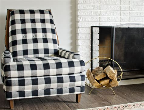 Black And White Check Rug by Black White Buffalo Check Chairs The Vintage Rug Shop