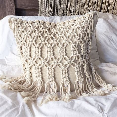 macrame pillow macrame pillow by zwikel studio macrame by