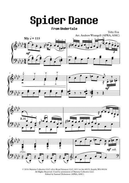 Download Spider Dance (from Undertale) (Piano) Sheet Music