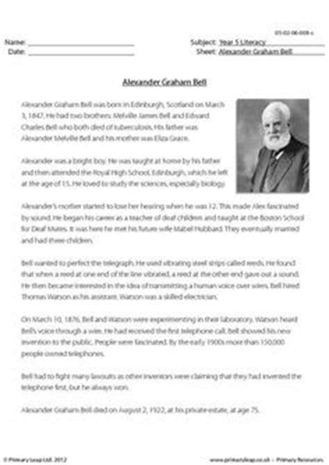 alexander graham bell biography worksheet 1000 images about alexander graham bell on pinterest