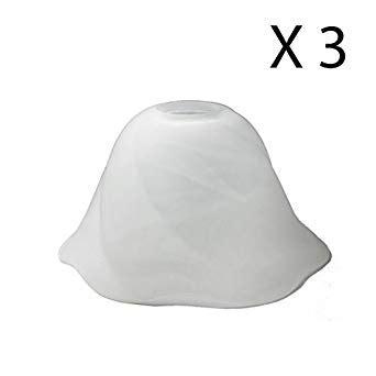 white bell l shade alabaster white bell glass shade for pendant lighting