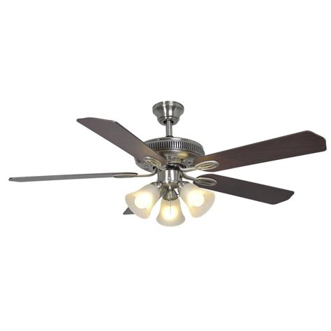hton bay glendale 52 in brushed nickel ceiling fan home depot glendale hton bay glendale 52 in indoor