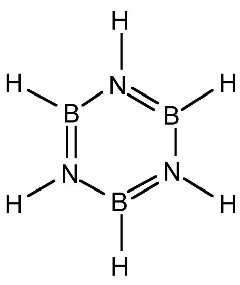 boron lewis diagram what is the hybridization of b in borazine and how do we