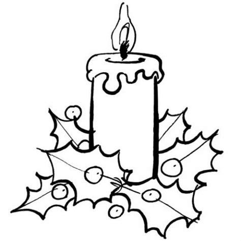 Dibujos De Navidad Para Colorear De Velas   imagen de vela de navidad para colorear