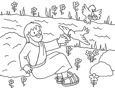 coloring page for elijah and the ravens free elijah and prophets of baal coloring pages