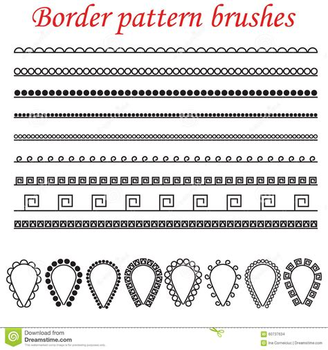 line pattern brush vector pattern brushes for borders dividers and frames