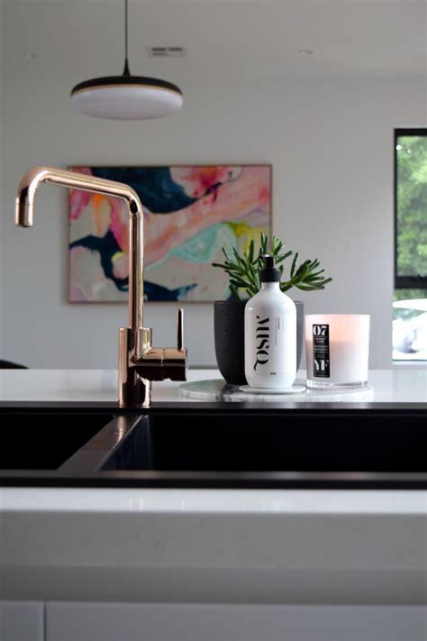 Gina S Home Kitchen Room Reveal White Kitchen Black Kitchen Sinks And Taps
