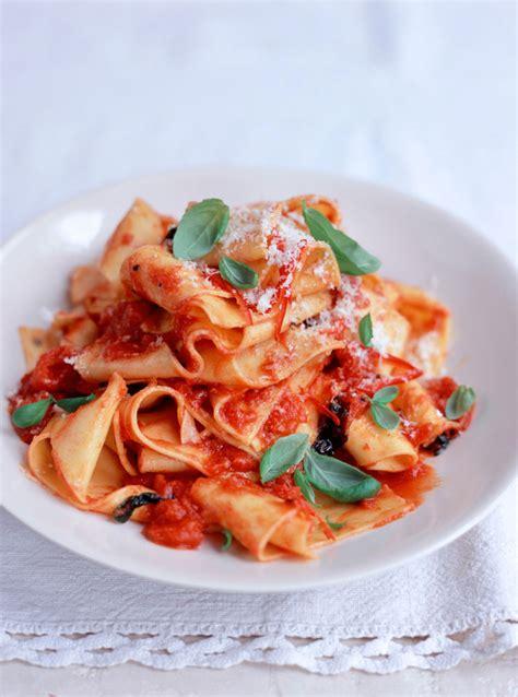 tomato pasta recipe pappardelle tomato sauce pasta recipes jamie oliver