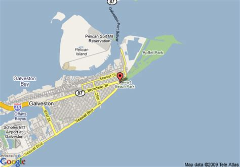 texas map galveston hotels in galveston bay area