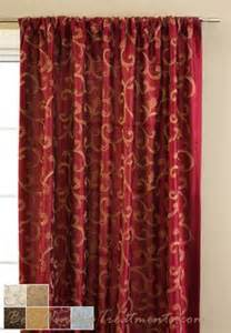 Embroidered Silk Drapery Fabric Red N Gold Home Decor On Pinterest Red Gold Red