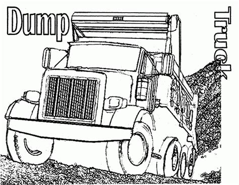 coloring page dump truck free printable dump truck coloring pages for kids