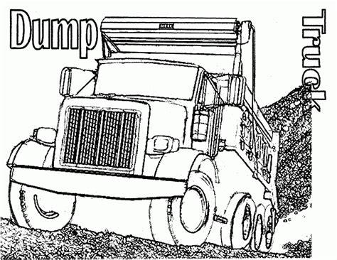 printable coloring pages trucks peterbilt semi truck coloring pages sketch coloring page