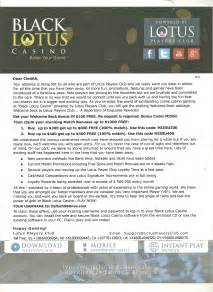 Lotus Asia No Deposit Bonus Codes 100 No Deposit Bonuses At Lotus Asia Black Lotus And
