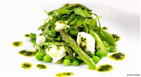 green asparagus goat cheese and flowers with an orange asparagus recipes for meatless monday