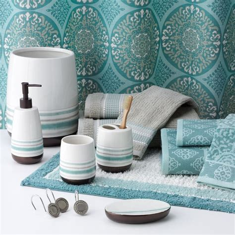 gray and teal bathroom new sonoma style tiburon fabric shower curtain teal
