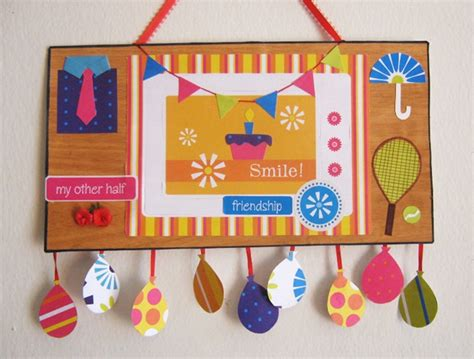 Handmade Wall Hanging For Birthday - diy diwali project ideas for children schools k4 craft
