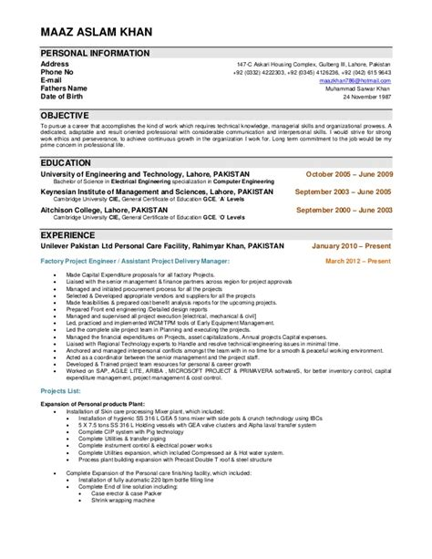 plant layout engineer resume resume maaz aslam khan project engineer
