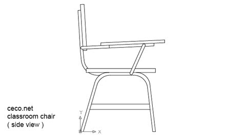 chair side view drawing autocad student desk chair pictures to pin on