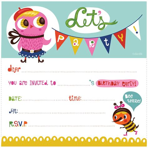 invitation cards for birthday party template choice image party