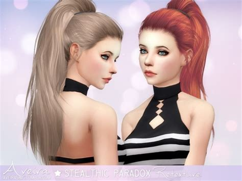how to download hairstyles in sims 4 aveira sims 4 stealthic paradox hairstyle retextured