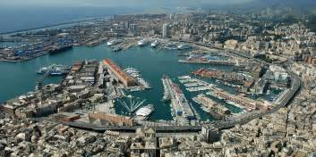 panorama of the port of genoa italy wallpapers and images