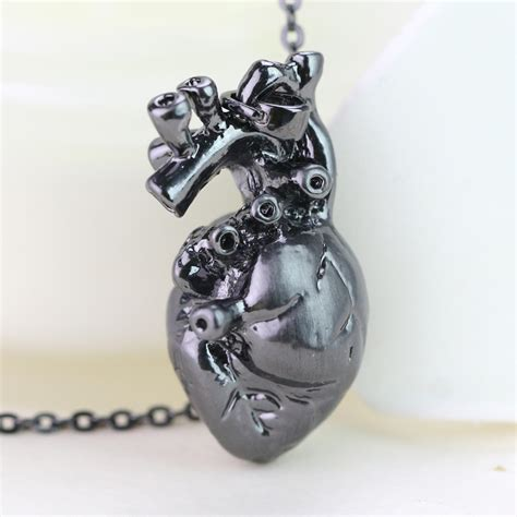 anatomically pendant human heart necklace science biology