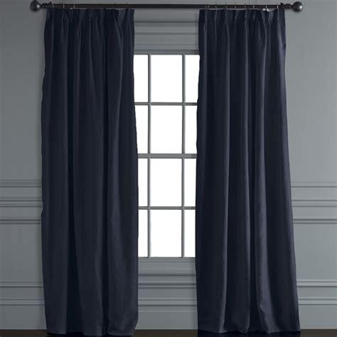 pinch pleat linen drapes signature linen pinch pleat drape navy williams sonoma