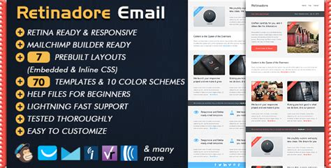 retinadore responsive email newsletter template