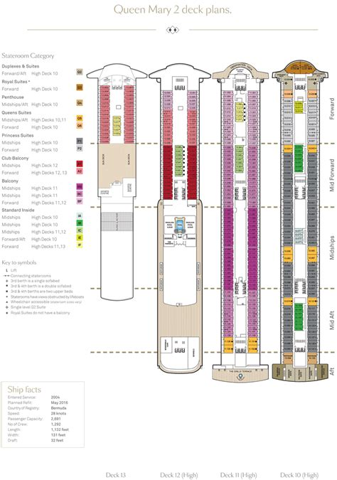queen mary floor plan queen mary 2 deck plans