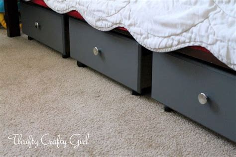 under bed storage drawers on wheels thrifty crafty girl under the bed storage using old