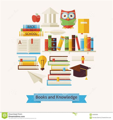 the practice and science of drawing books vector flat style books education and knowledge objects