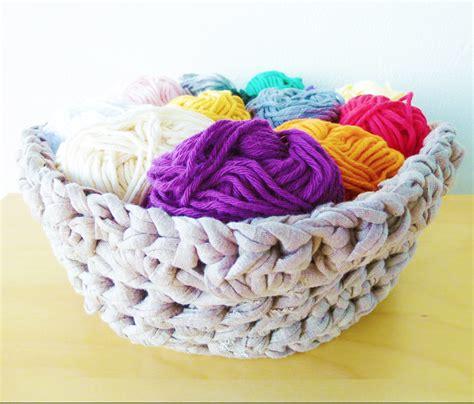 crochet basket pattern with t shirt yarn crochet basket pattern made with t shirt yarn lvly