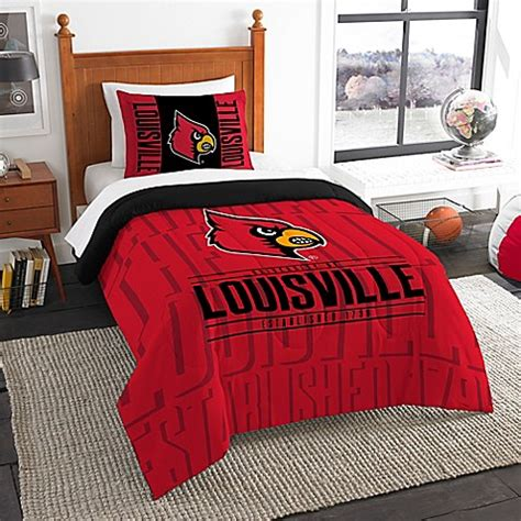 bed bath and beyond louisville university of louisville modern take comforter set bed