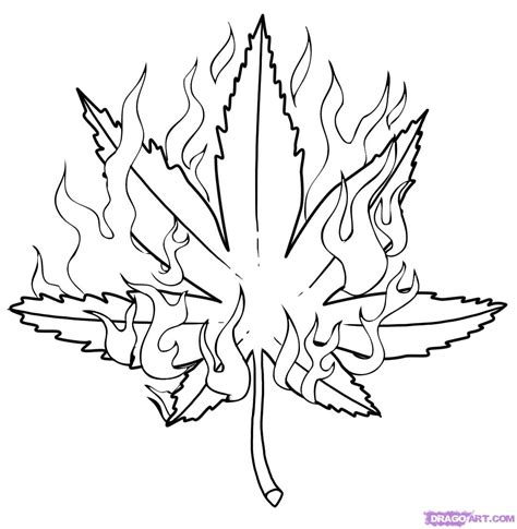 weed leaf coloring page how to draw a pot leaf step by step tattoos pop culture