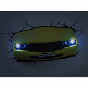 Car Lighting Bedroom Bedroom Lighting Yellow Car 3d Led Wall Light