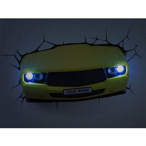 kinder schlafzimmerbeleuchtung gelb muskel auto 3d led wandlicht kinder schlafzimmer