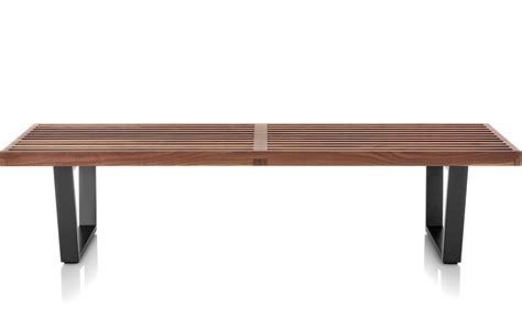platform bench george nelson platform bench with wood base hivemodern com