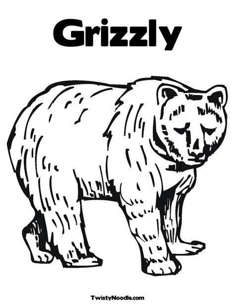 Grizzly Bear Pencil Coloring Pages Grizzly Coloring Page
