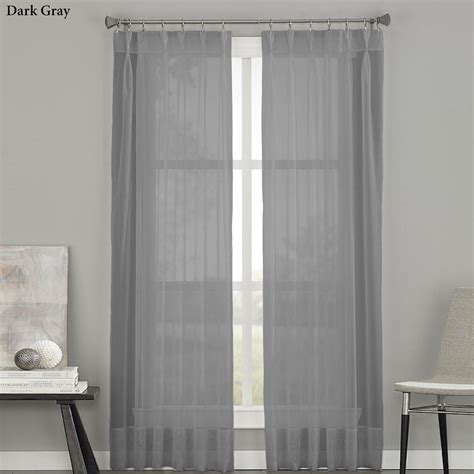 pleated curtain panels soho sheer voile pinch pleat curtain panels