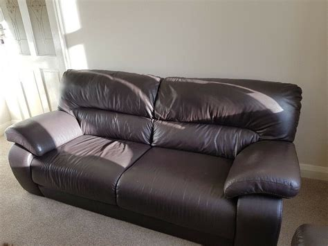 Dfs Sofa Collection by Dfs Brown Leather Sofa Set 8 Months Excellent