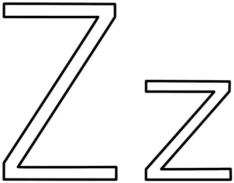 Letter Z Coloring Page Alphabet Z Colouring Pages