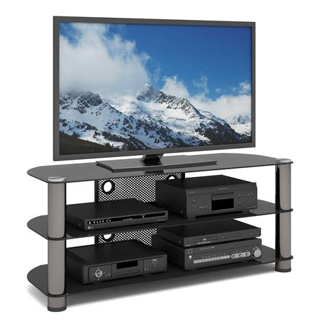 sleek tv stands sleek glass tv stand kmart