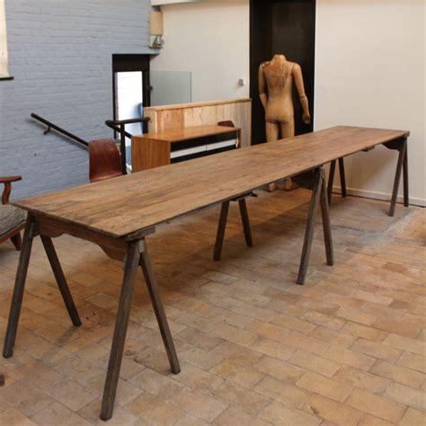 Grande Table En Bois by Mobilier Industriel Grande Table D Atelier En Bois