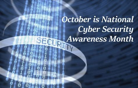 National Mba In Cyber Security by October Is National Cyber Security Awareness Month