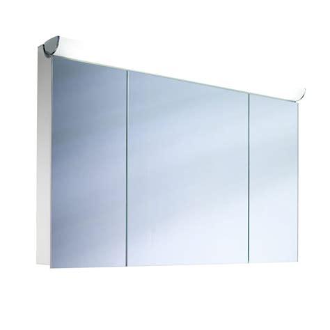 schneider mirrored bathroom cabinet schneider faceline 3 door illuminated mirror cabinet 1200mm