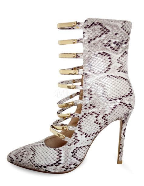 s gladiator pumps high heel strappy snake print