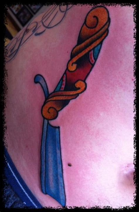 straight razor tattoo ink