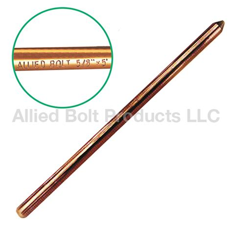 5 8 quot x 5 copper bonded ground rod allied bolt products llc