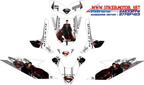 Stiker Striping Honda Beat Fi Superman Steel V3 Spec A striping motor honda beat superman of steel v2 stikermotor net