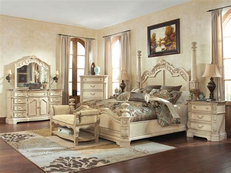 antique white bedroom sets caroline 5pcs traditional antique white queen king poster